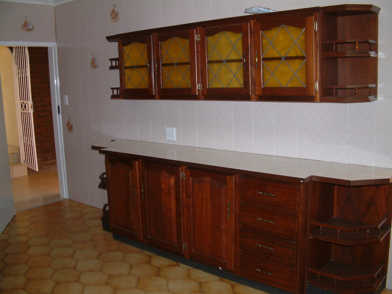 Solid Imbuia Kitchen Cupboards