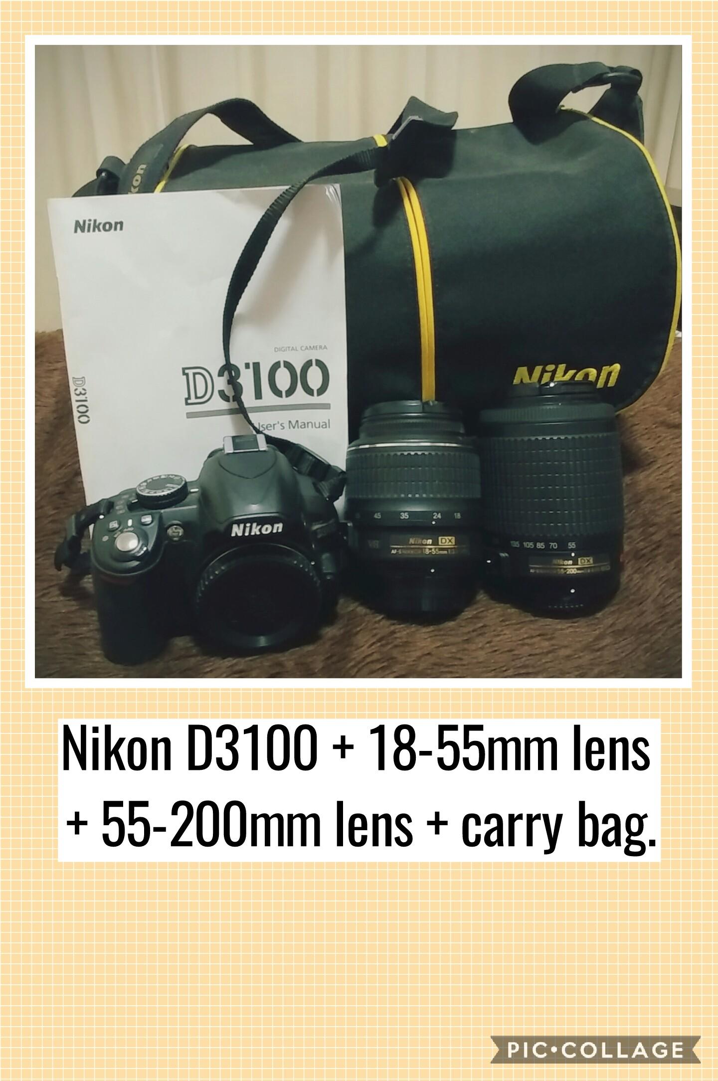 Nikon D3100 + 2 Lenses + Carry Bag | Junk Mail