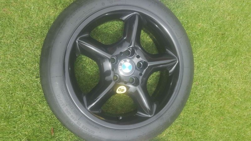 Bmw F30 320i 320d 17 Inch Alloy Biscuit Spare Wheel And Tyre Kit