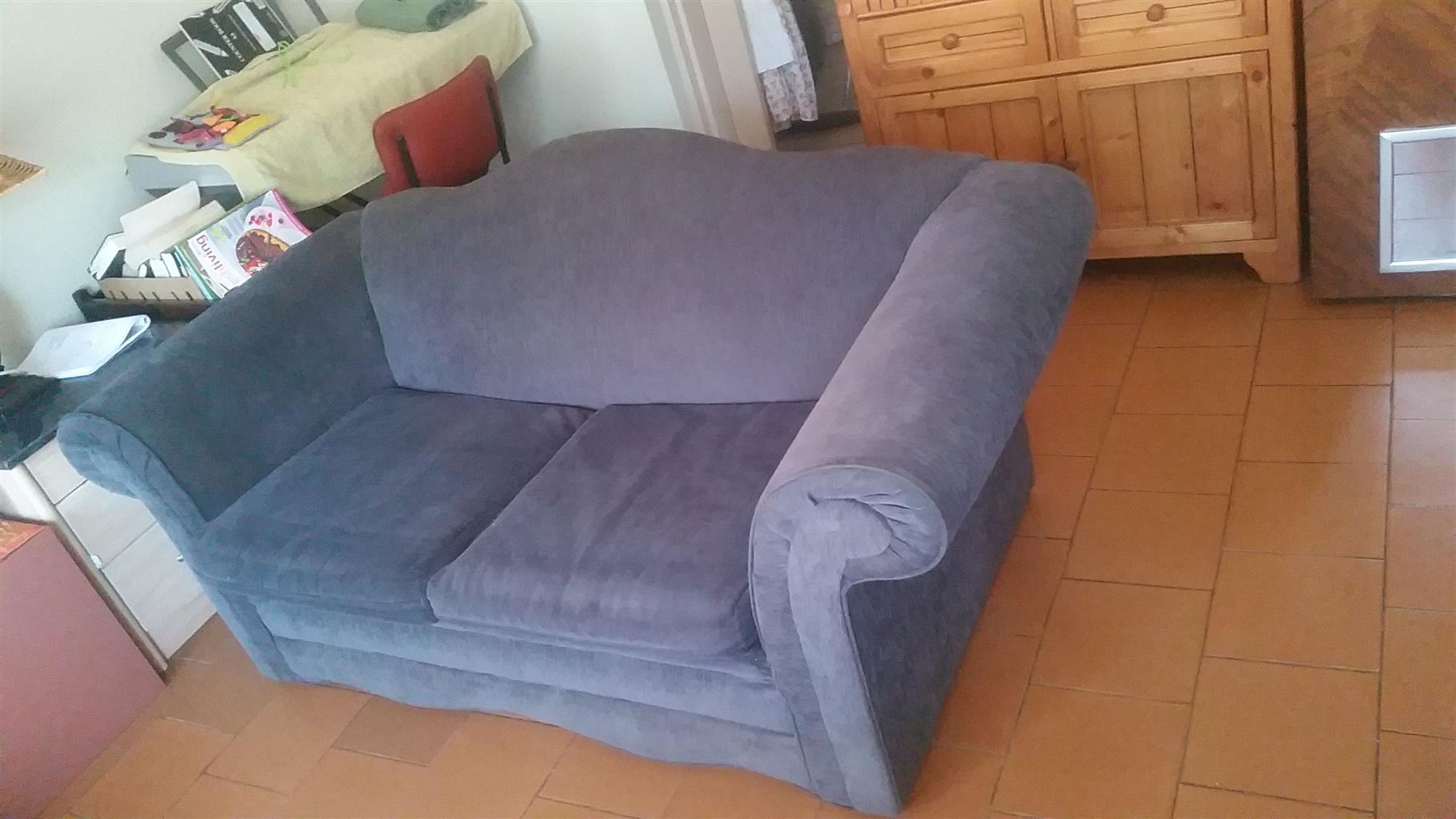2 charcoal grey couches in good condition.