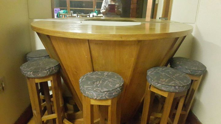 Round bar with chairs