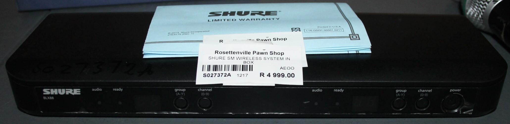 Shure wireless system S027372a #Rosettenvillepawnshop