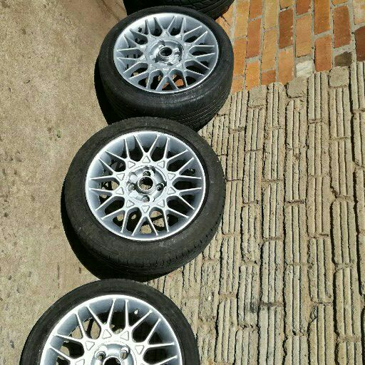 mags 16 inch 4x100 pcd with tyres 75% tread