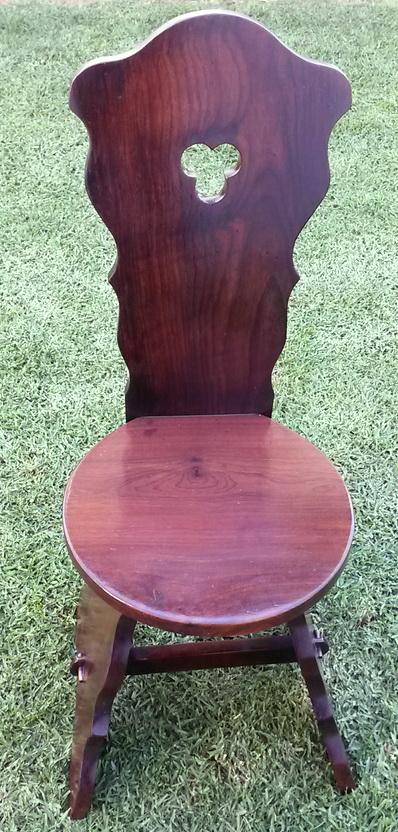 Vintage Medieval Stinkwood chair