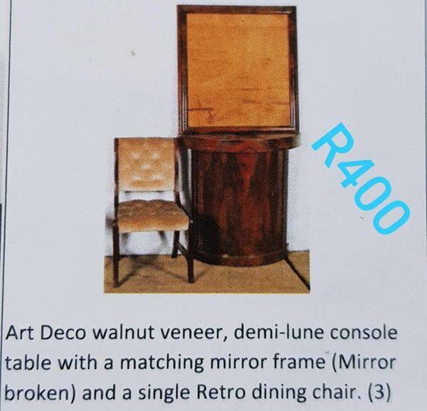 Art deco wallnut veneer