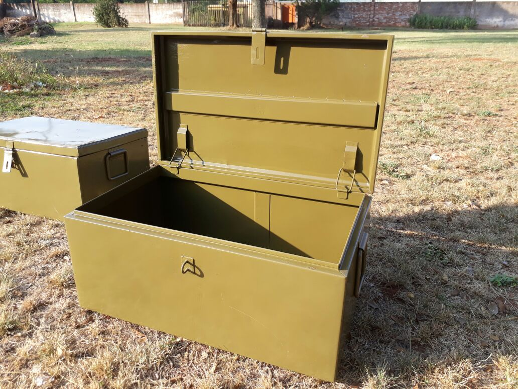 ORIGINAL ARMY STEEL TRUNKS (TROMMELS)