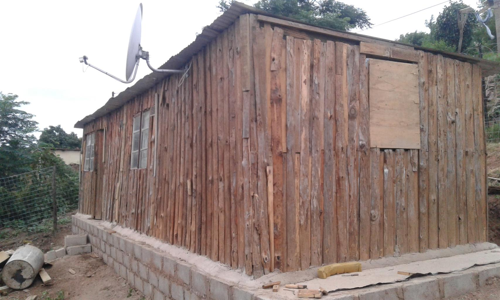 3-roomed wendy house for sale at Inanda, Amatikwe Area. Spacious house, and close to main road.