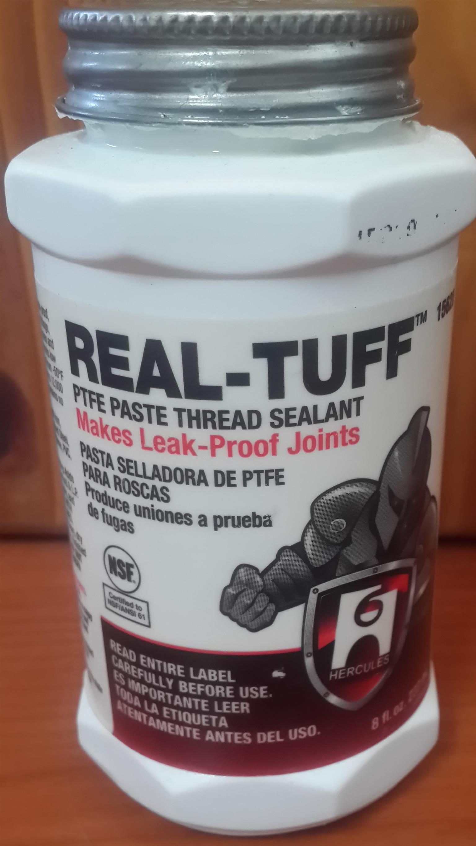 REAL-TUFF Makes leak-proof joints