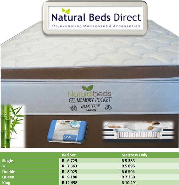 COOL GEL MEMORY POCKET BOX TOP DOUBLE BED // MATTRESSES AND BED SETS