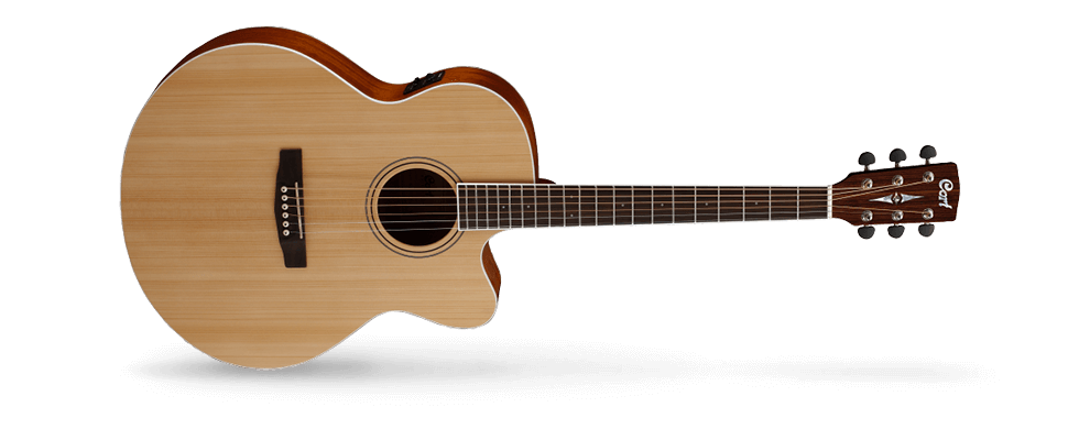 CORT CJ1FNS, Acoustic Electric Guitar,Solid Top,Fishman Preamp.