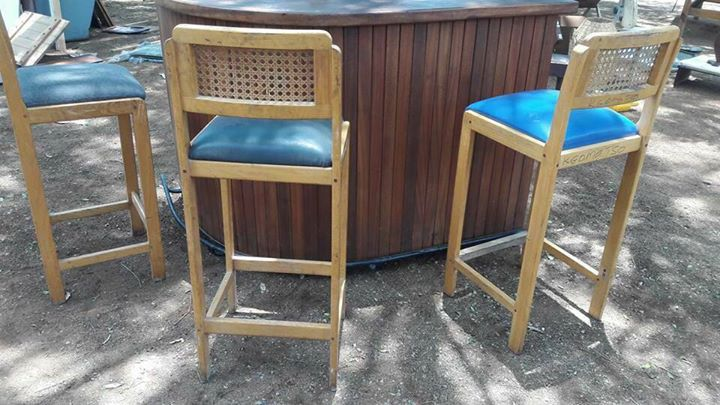 Blue top bar chairs for sale