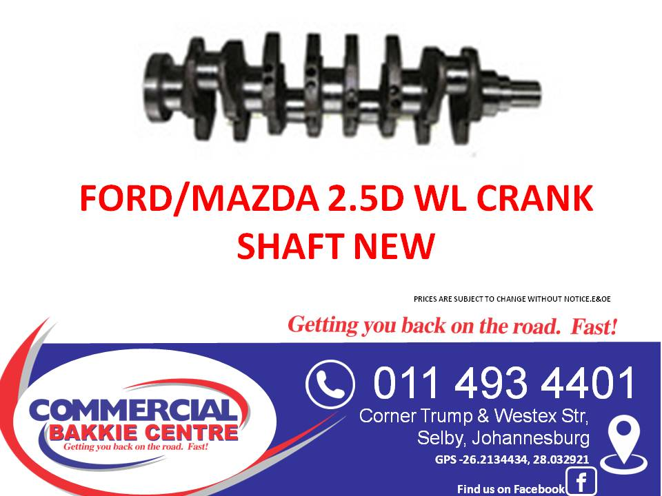 ford/mazda 2.5d wl crank shaft new