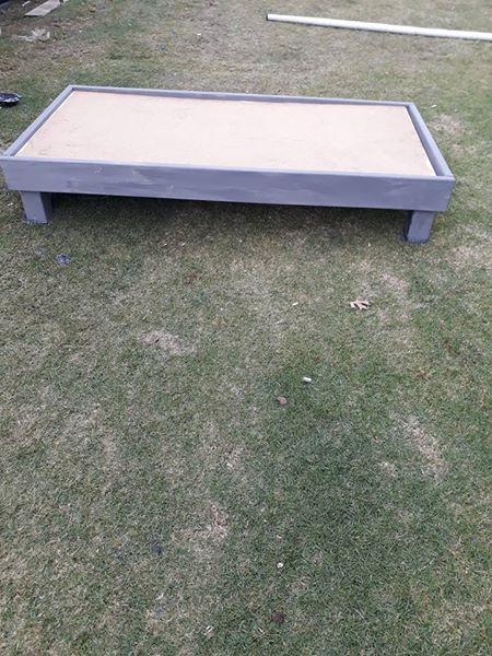 hout enkel bed base