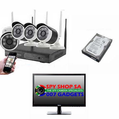 4 Channel Wireless CCTV Complete | Spy Shop SA