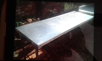 Stainless steel table 2.3 metres