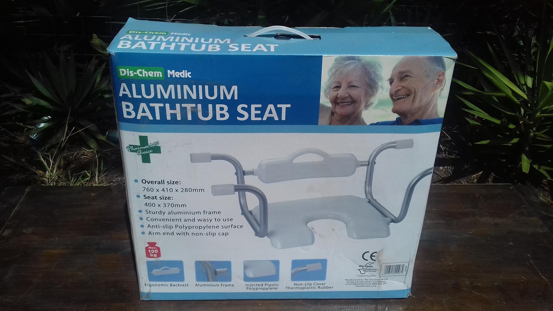 Aluminium bath seat
