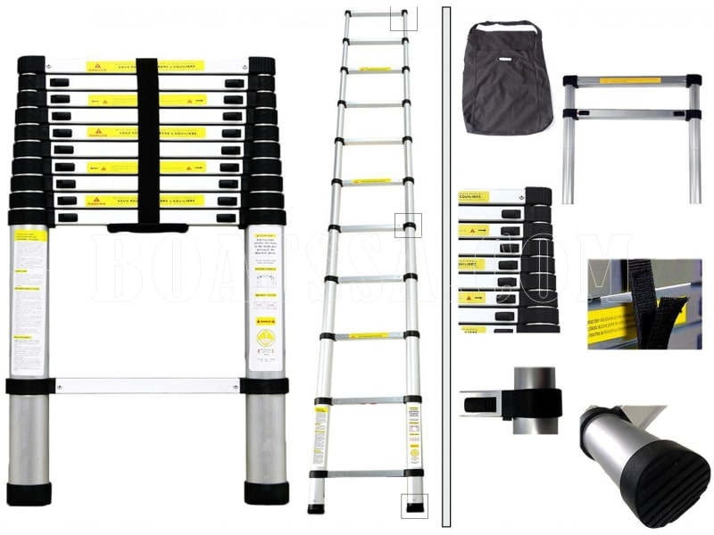 ALUMINIUM TELESCOPE ADJUSTABLE LADDER 3.2m