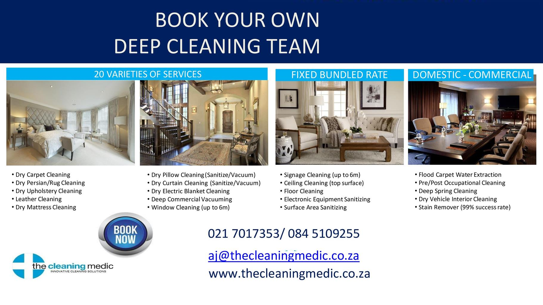 """Hire """" The Cleaning Medic"""" Cleaning Services"""