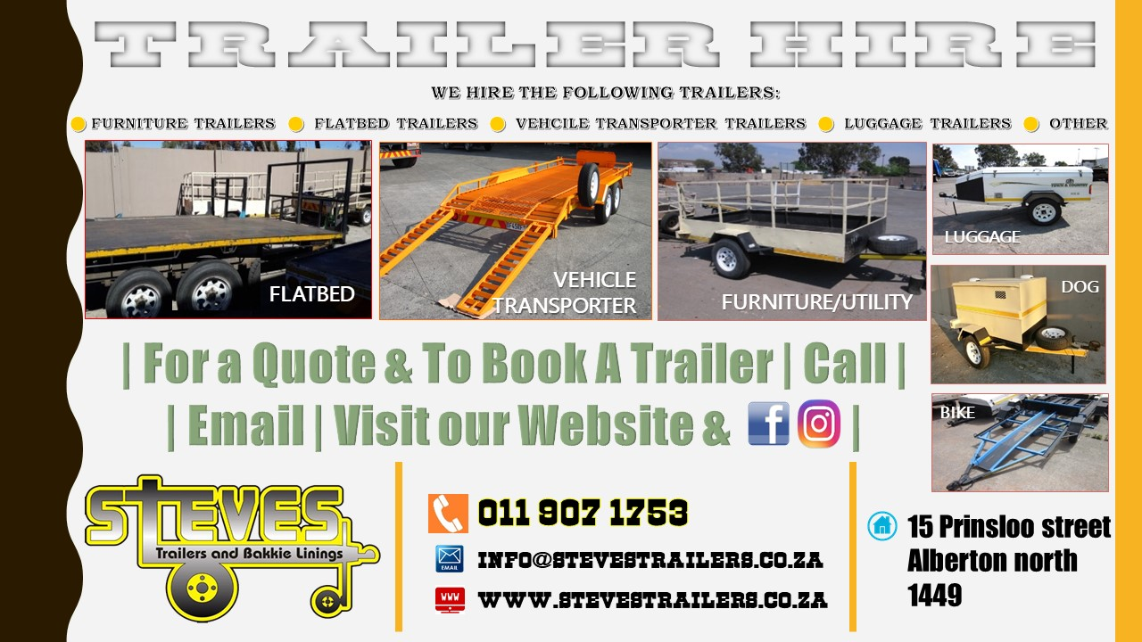 Trailer Hire, Manufacture + Rubberizing Services