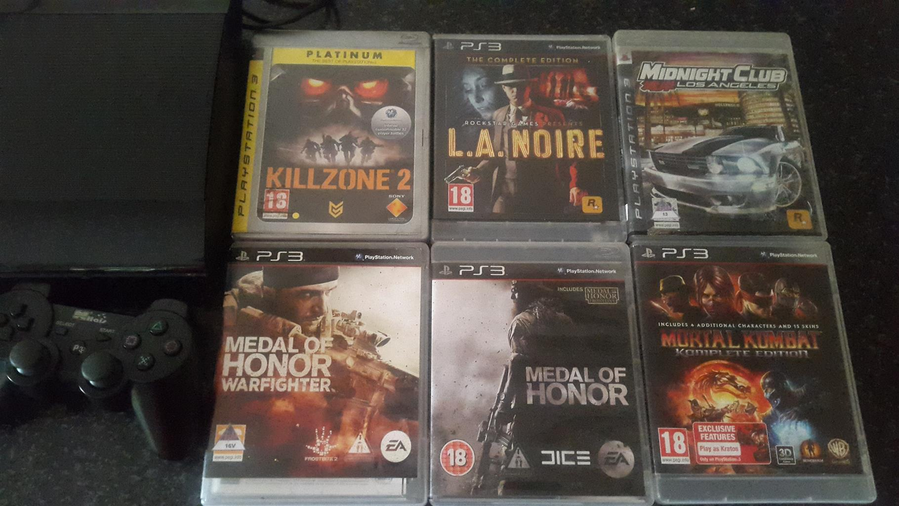 Playstation 3 with 6games