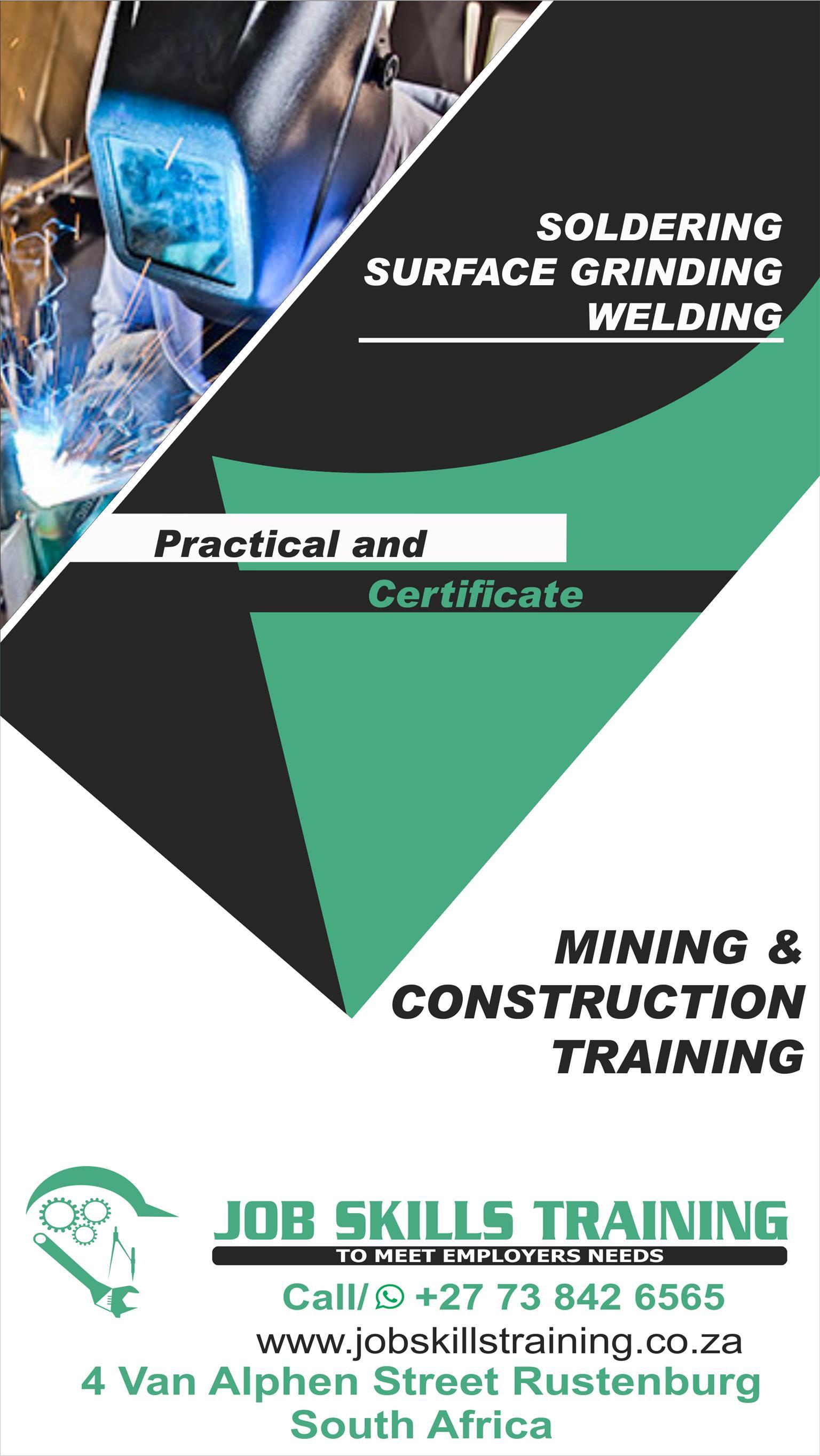 Welding Training Certificate License Call 27 73 842 6565