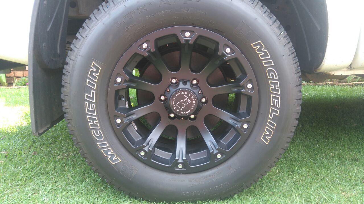 """4 X Black Rhino Sidewinder 17""""  / Michelin 265/65/R17 All Terrain Tyres"""