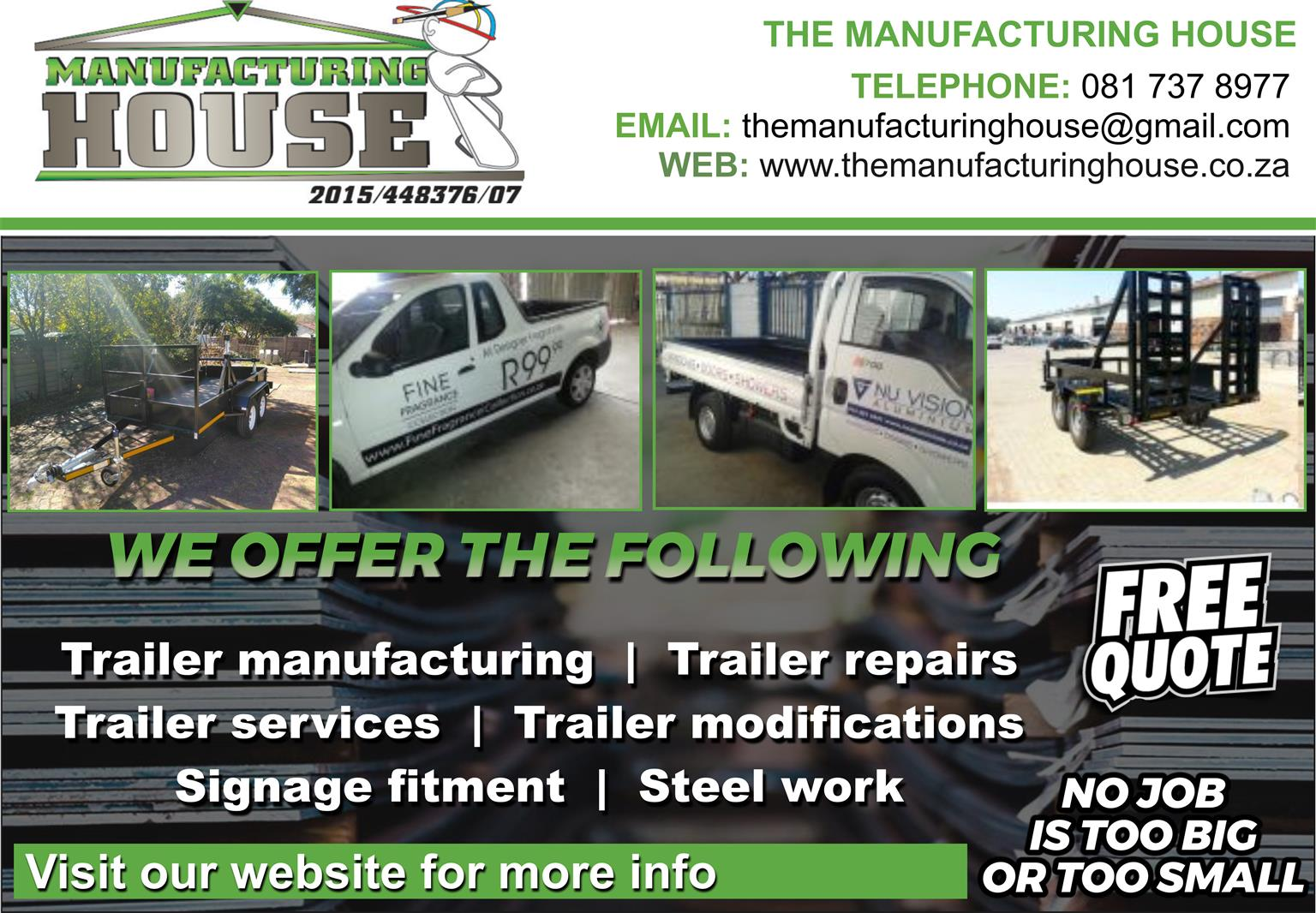 Trailer services and repairs
