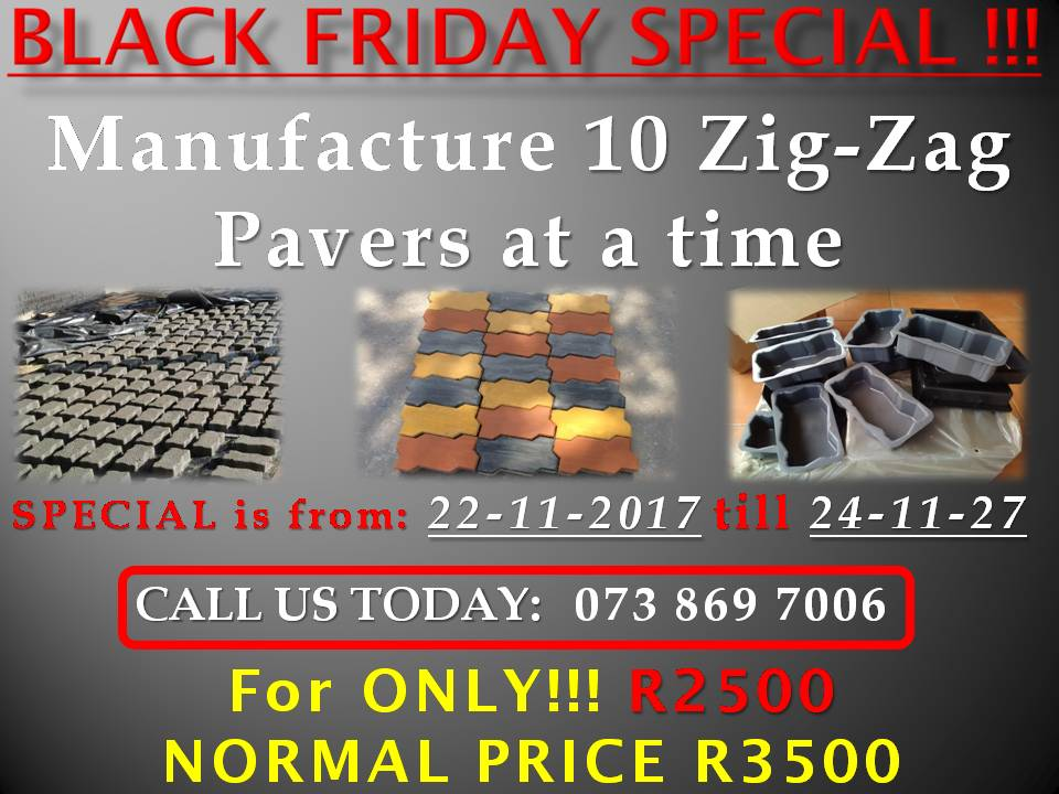 BLACK FRIDAY SPECIAL - Zig-Zag Paver Manufacturing Business