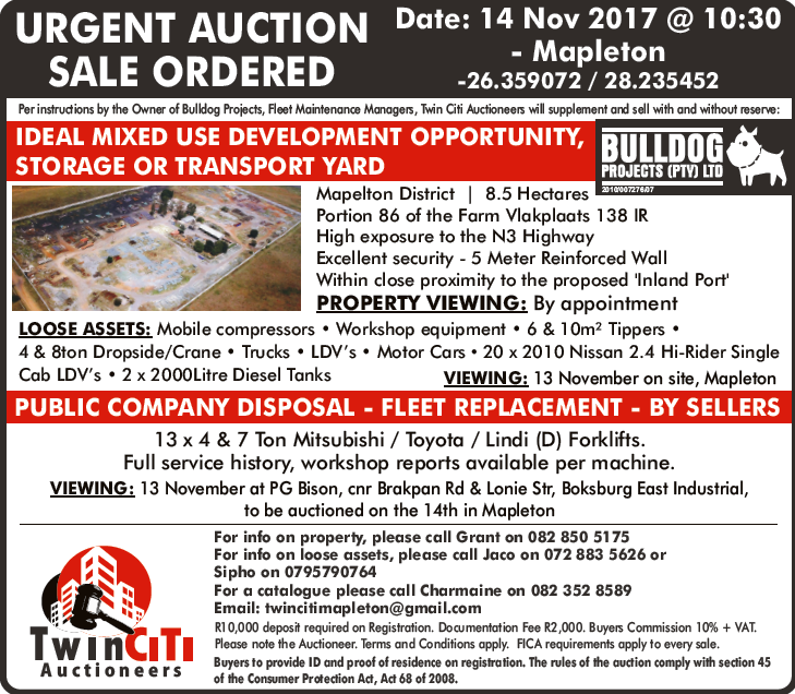 URGENT AUCTION - DEVELOPMENT OPPORTUNITY, STORAGE OR TRANSPORT YARD