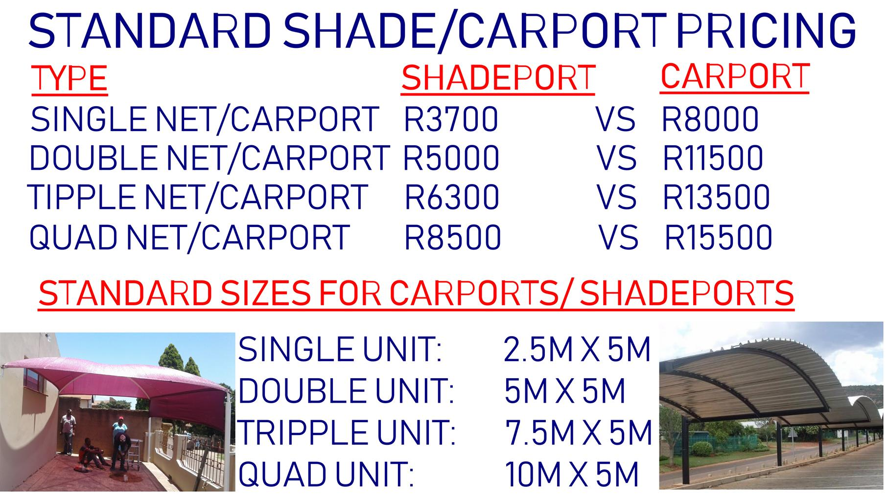 Installation And Repairs On Shadeports And Carports Junk