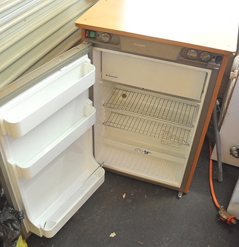 Gas, 12v, electrical camping fridge