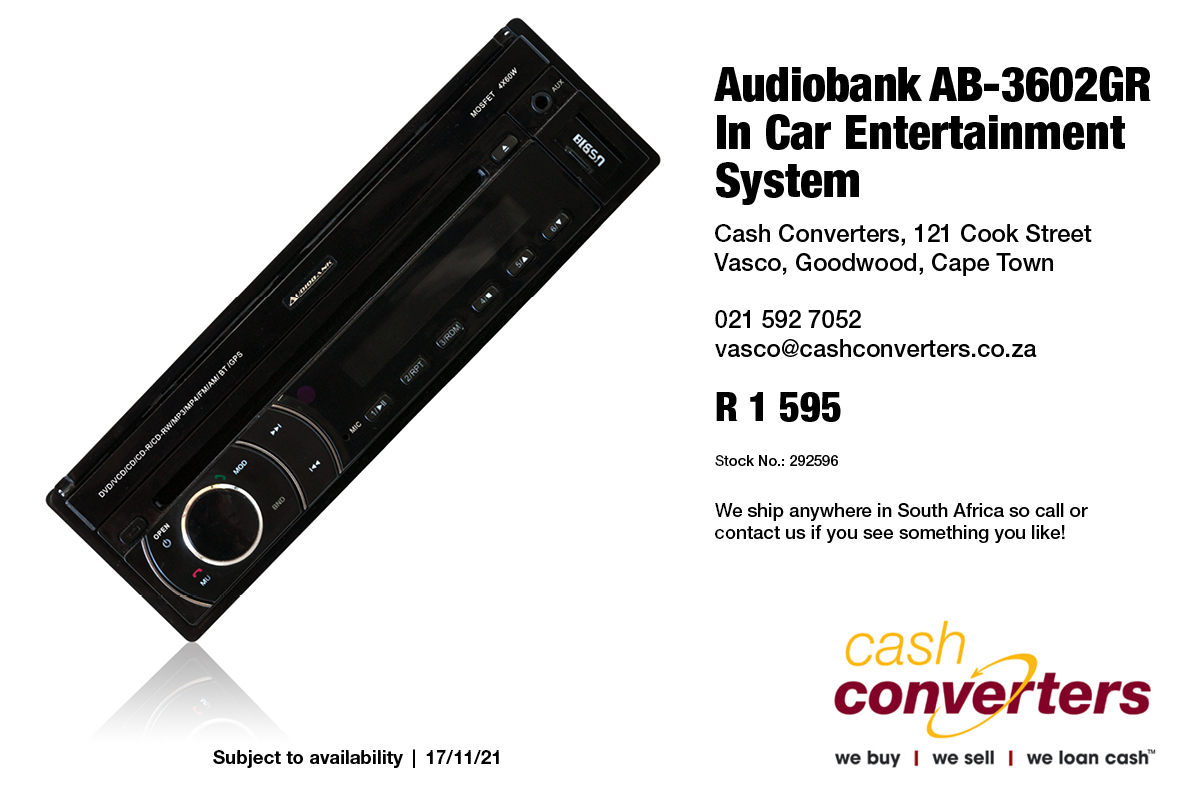 Audiobank AB-3602GR In Car Entertainment System