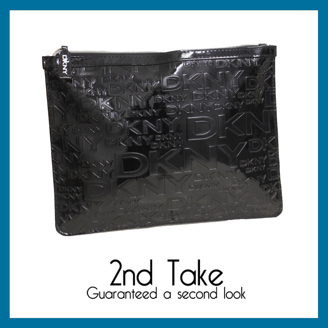 Shop DKNY accessories like this structured clutch bag for less at 2nd Take!