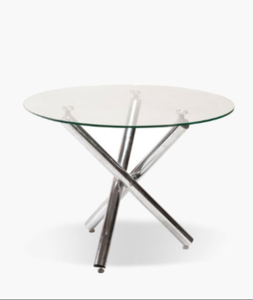 Round 6 Seater Glass Dining Table