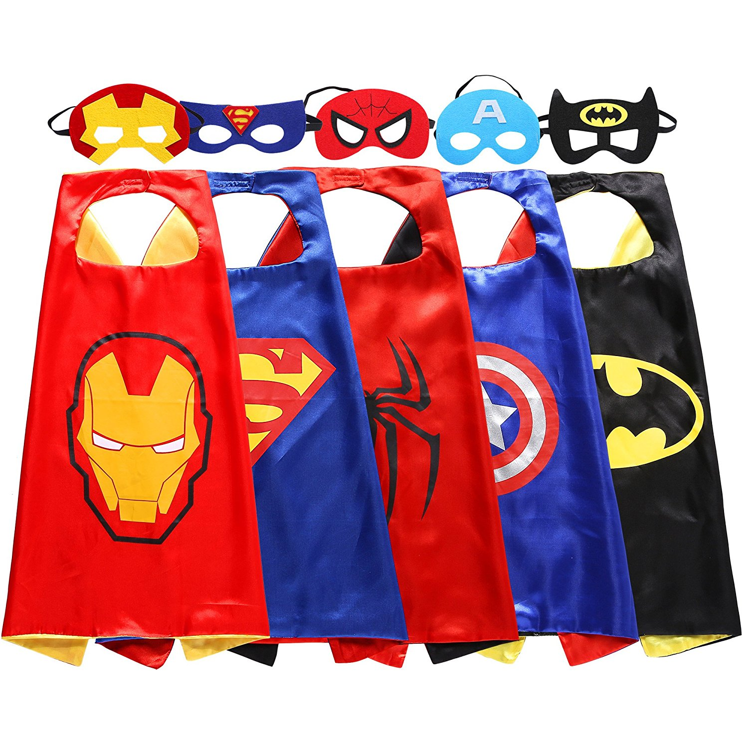 mask and cape sets in superhero theme available in johannesburg