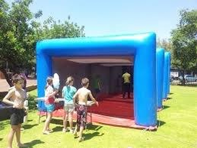 Inflatable shooting tunnel for paintball guns for sale