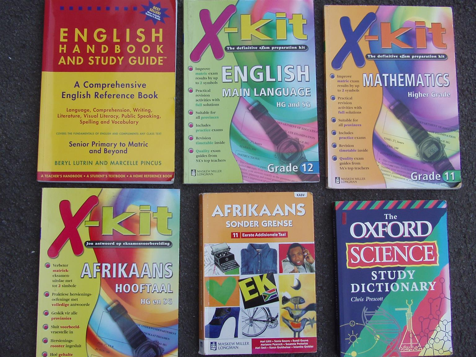Grade 11 & 12 Study Guides - English Afrikaans Maths and Science