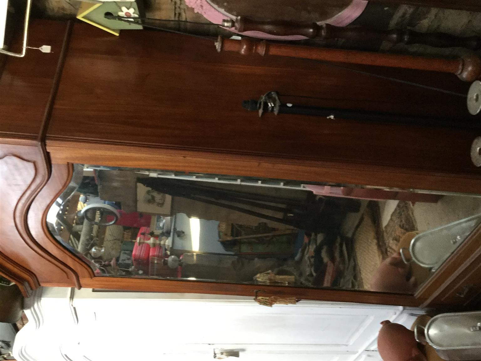 Awesome armoire, solid wood interior shelves, idea Storeage linen or drinks