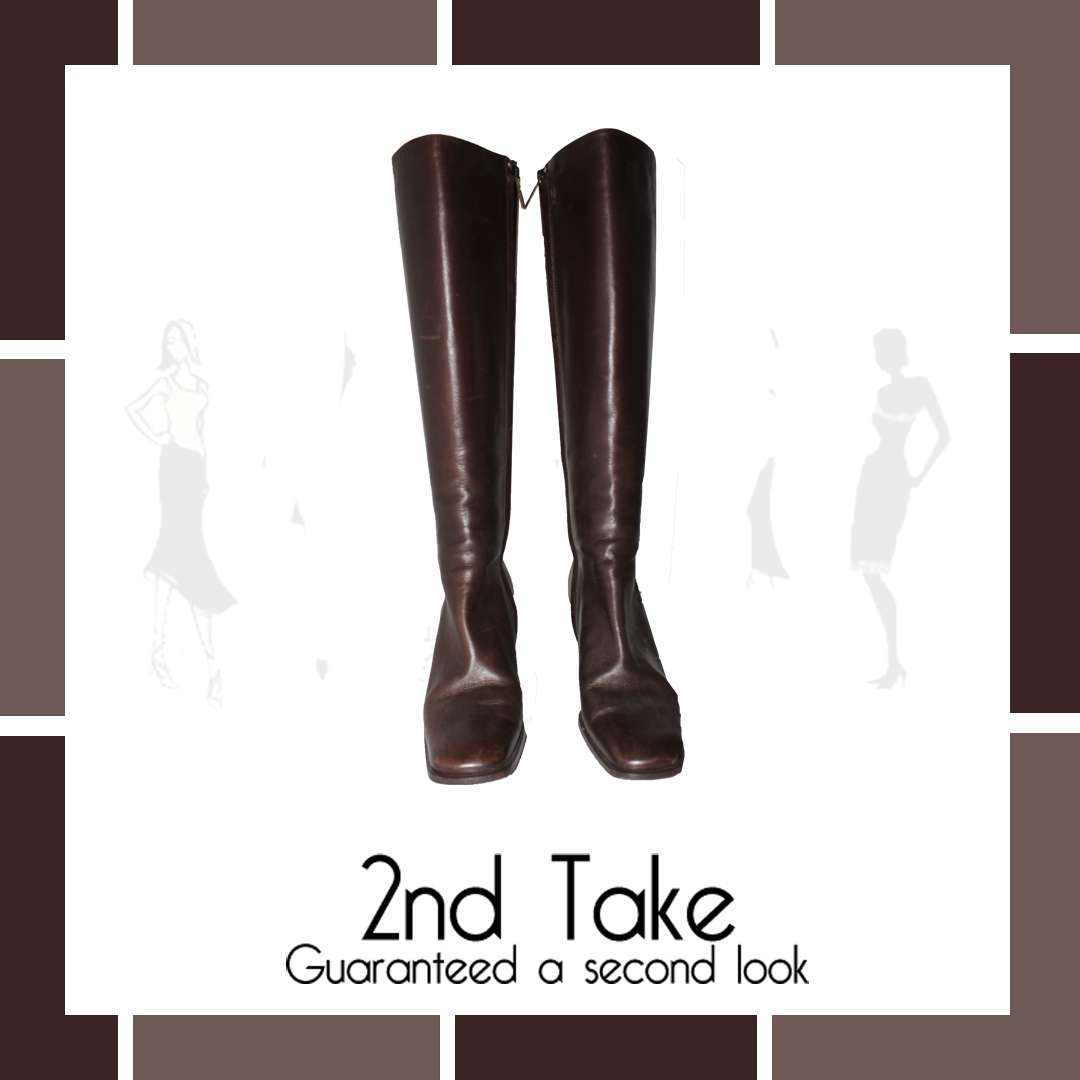a27860dca Just unpacked! Gucci leather boots available at 2nd Take