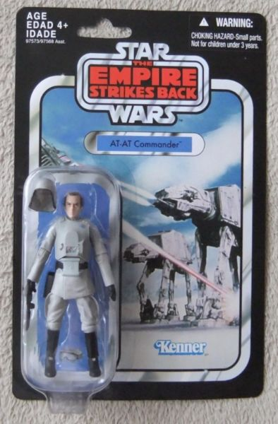 "Star Wars 3 3-4"" Vintage Collection VC05 AT-AT Commander RARE* Action Figure Collectible"