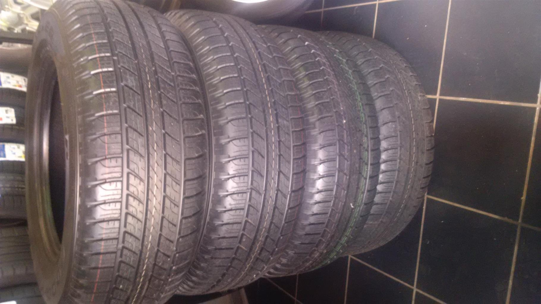 Get a set of 265 65 17 Goodyear Wrangler HP ON SALE NOW