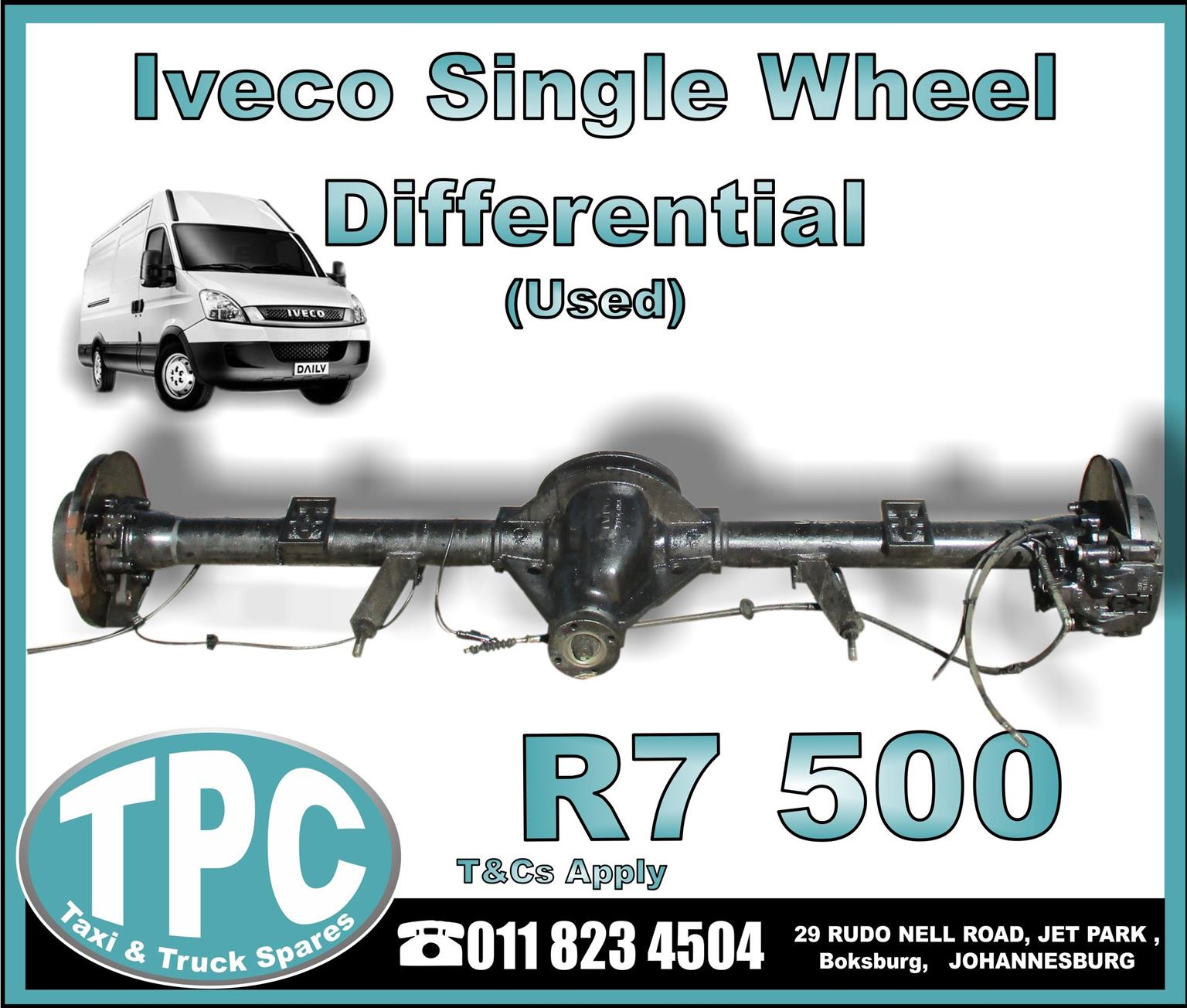 Iveco Single Wheel Differential - Used - New And Used Quality Replacement Taxi Spare Parts - TPC.