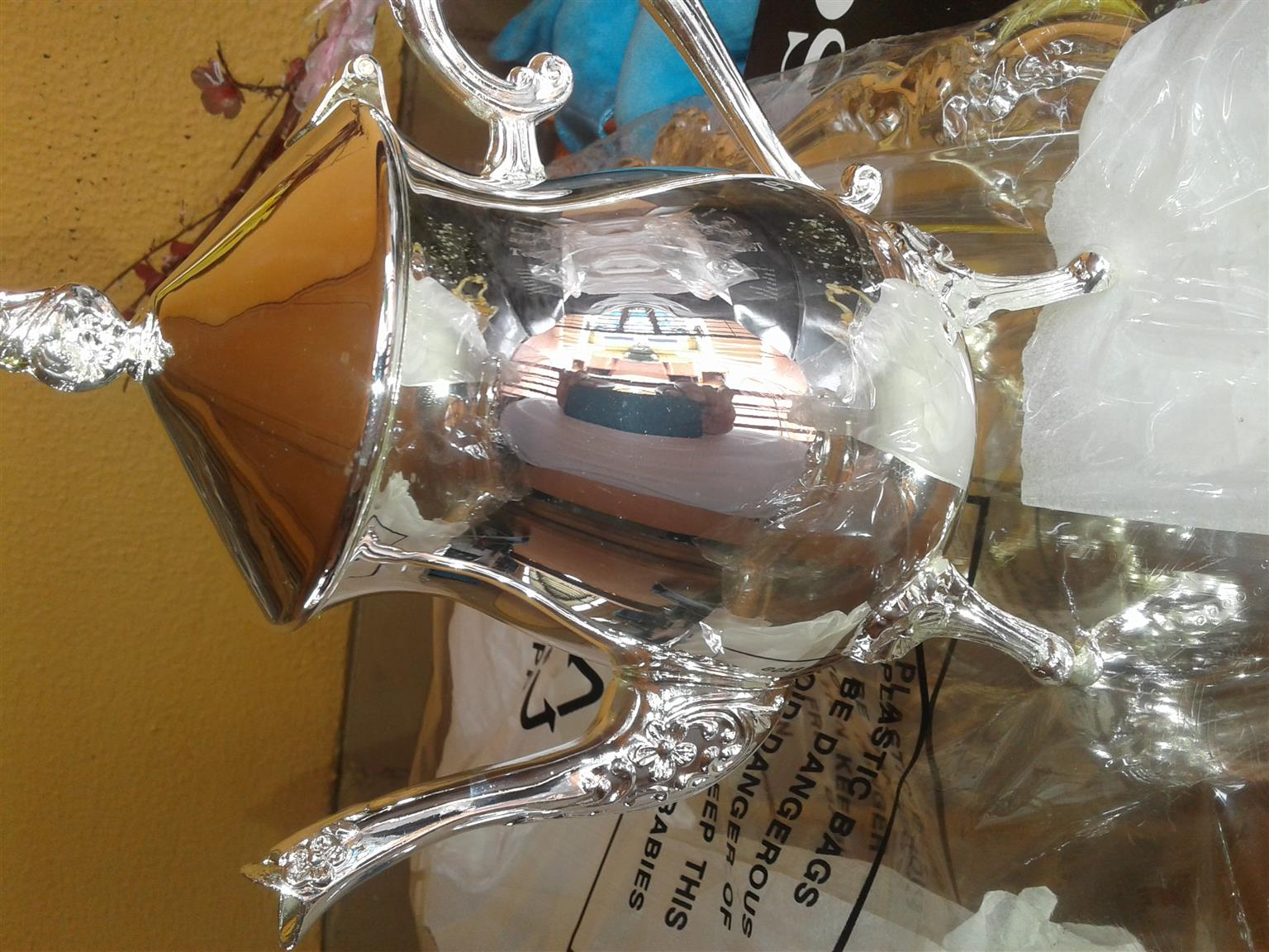 silver plated coffee and tea set