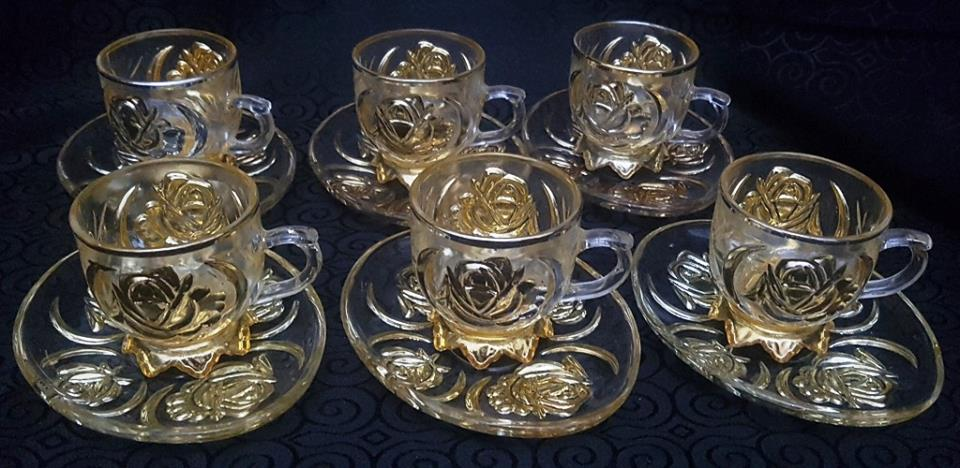 Vintage 12 Piece Cups with Saucers