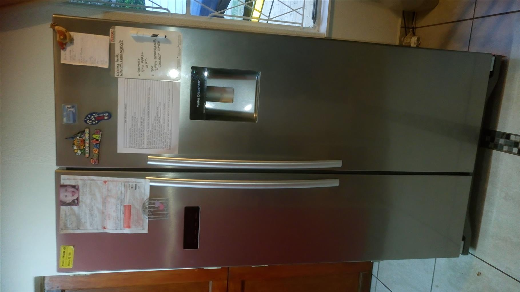 Hisense Silver double door fridge /freezer