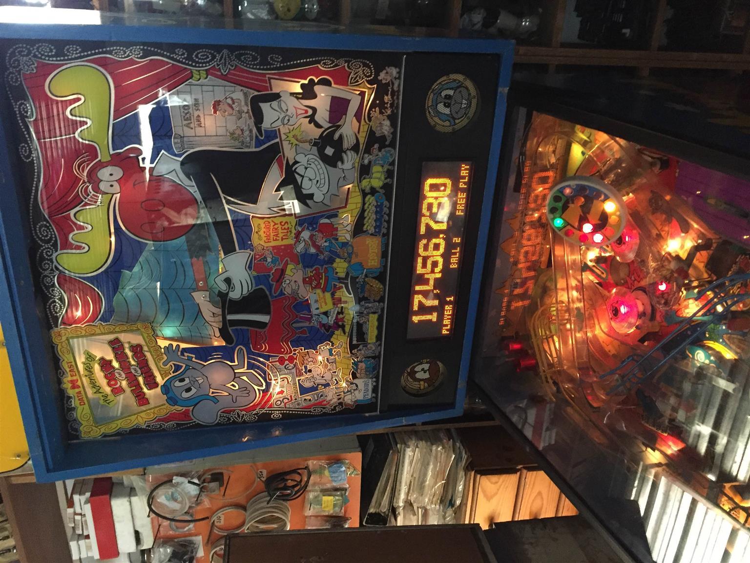 Rocky Bullwinkle & Friends Pinball Machine