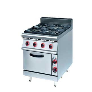 700 Range-4 Burner Range with Electric Oven-OT-878-4D