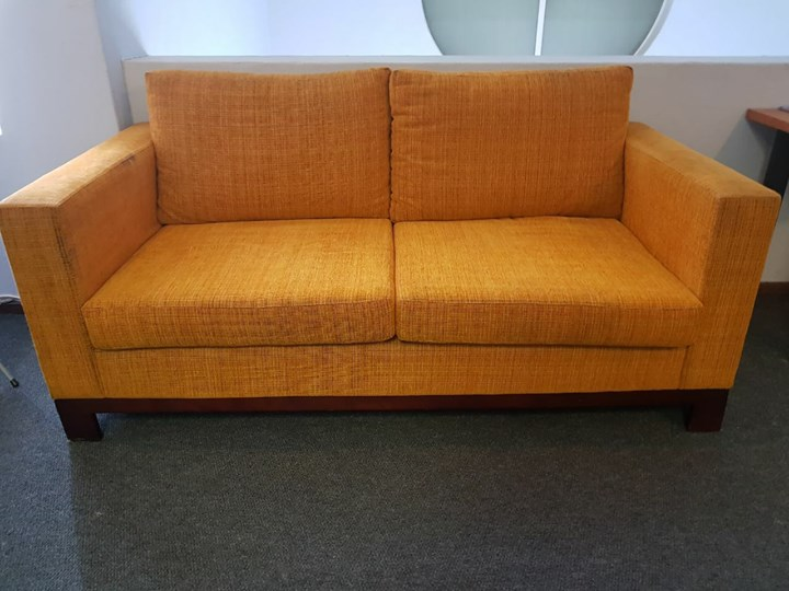 Large orange couch