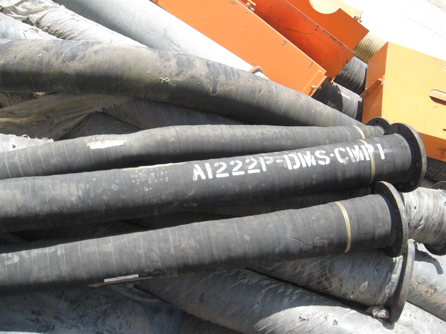 Mostly only new unused INDUSTRIAL HEAVY DUTY Water  or Sludge Pipes Cost new over R7000 each