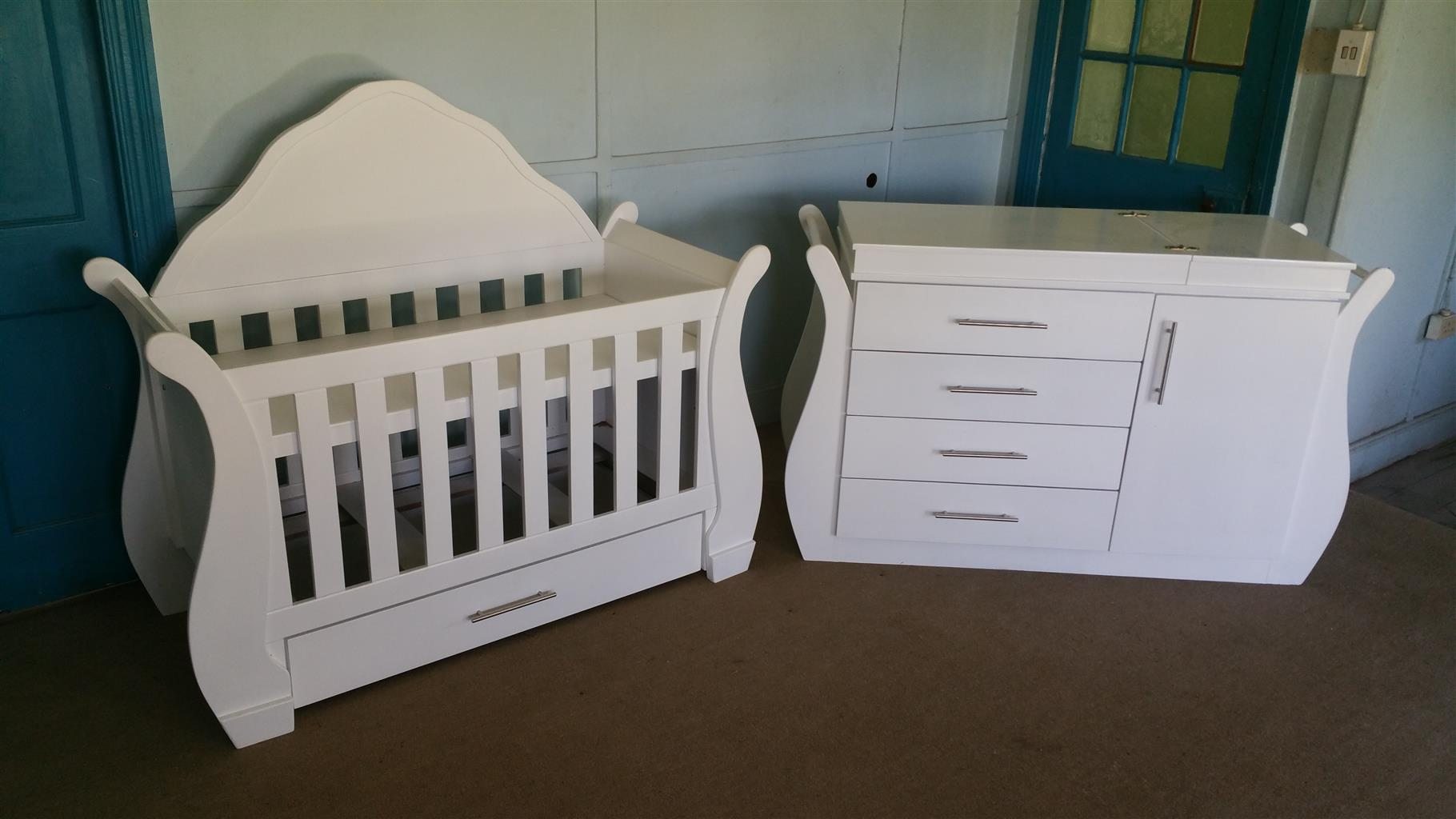 Mimosa Baby Cot With Headboard and Compactum-R 6499,00